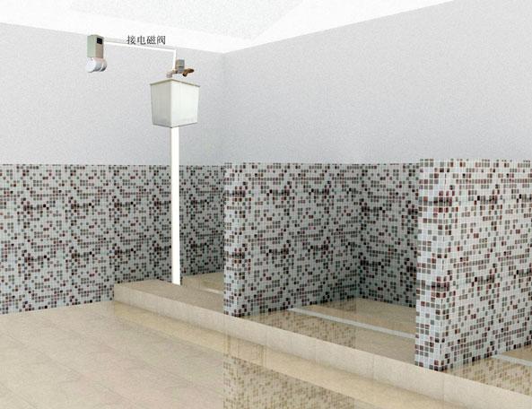 环卫公厕专用电池型大便槽感应节水器